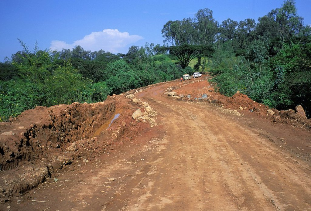 Stock Photo: 1890-44506 Rough road between Nekemte and Goulisoo, Oromo area, Welega state, Ethiopia, Africa