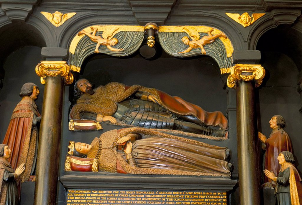 Bowle´s family tomb, dating from 1632, St. Patrick´s cathedral, Dublin, County Dublin, Eire Ireland, Europe : Stock Photo