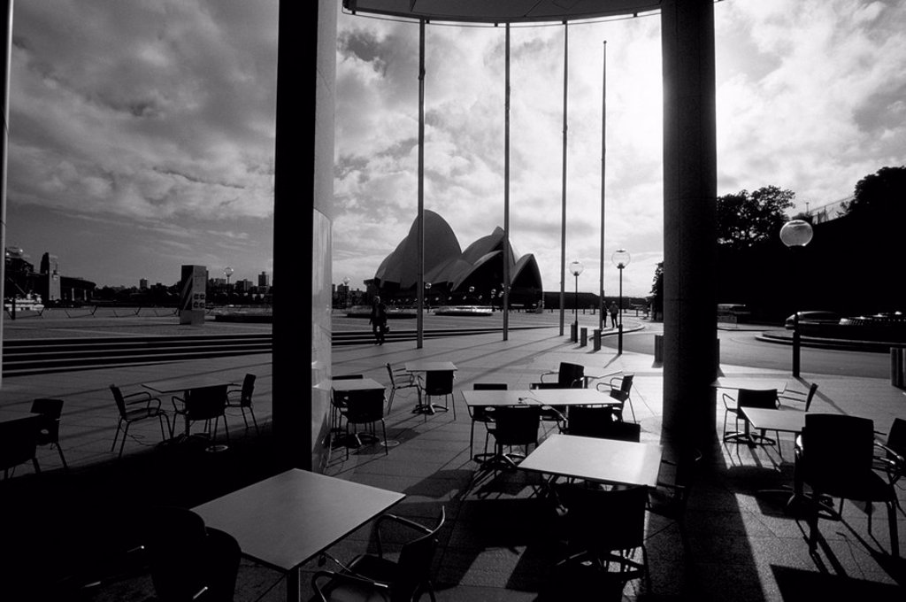 Stock Photo: 1890-44741 Cafe at Sydney Opera House, Sydney, New South Wales, Australia, Pacific