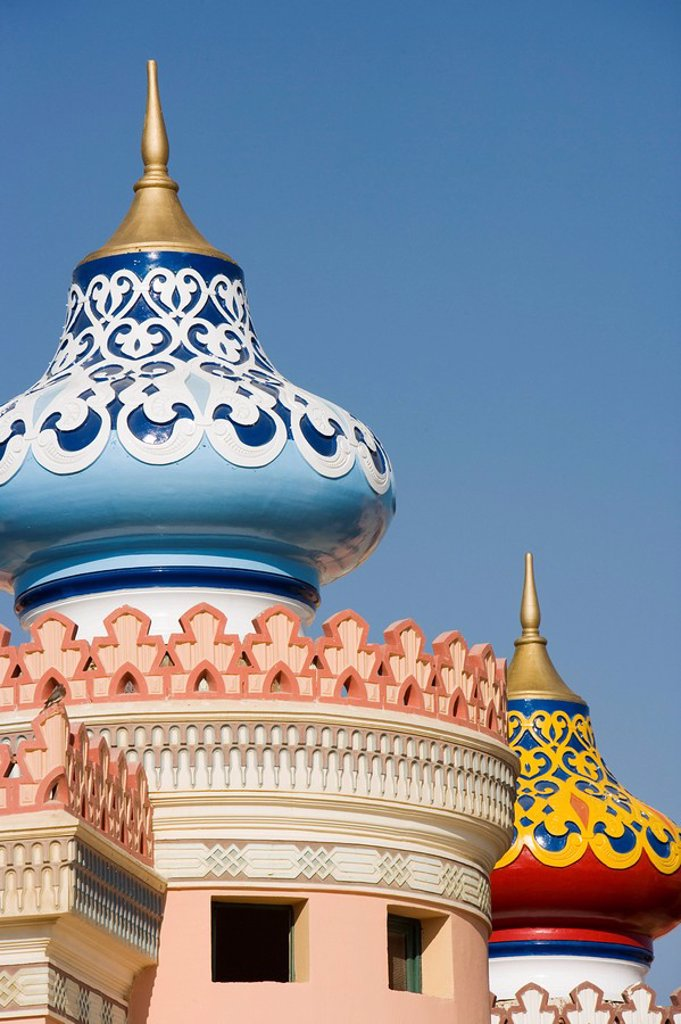 Spires on hotel, Sharm el Sheikh, Egypt, North Africa, Africa : Stock Photo