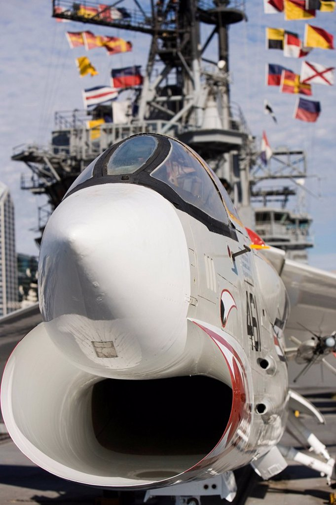 The Midway Museum, San Diego, California, United States of America, North America : Stock Photo