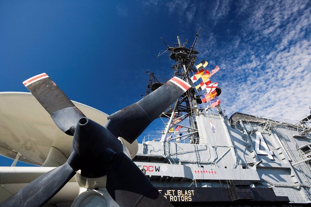 The Midway Ship Museum, San Diego, California, United States of America, North America : Stock Photo
