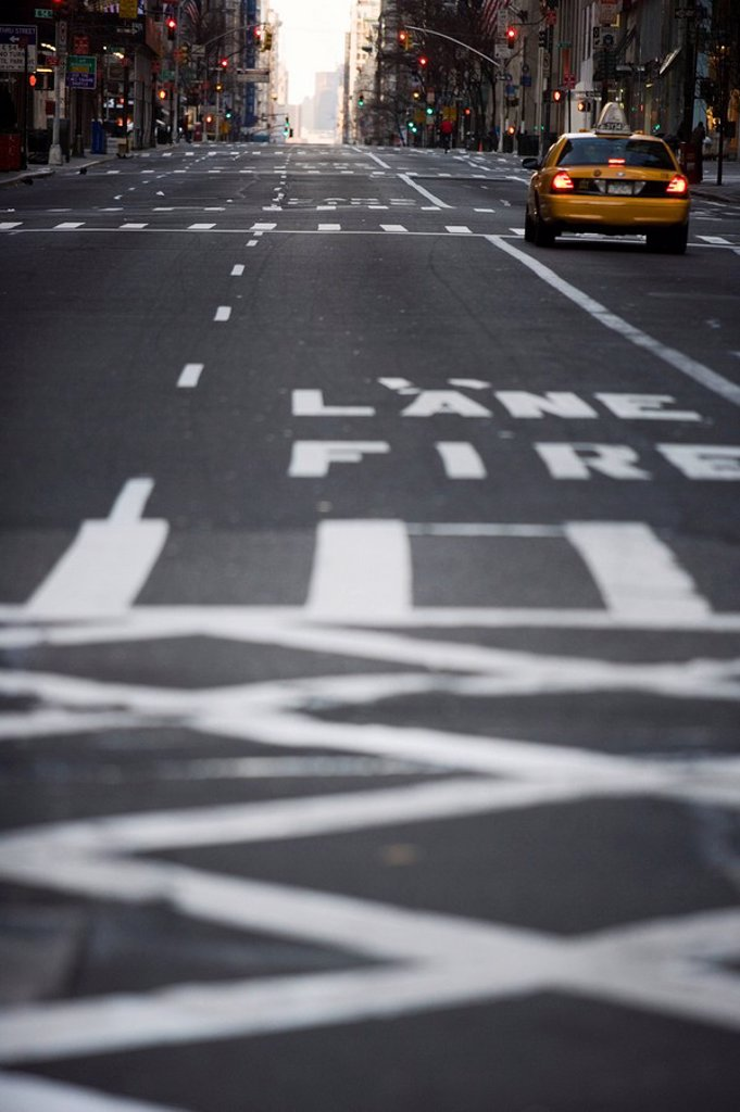 Fire Lane, New York, United States of America, North America : Stock Photo