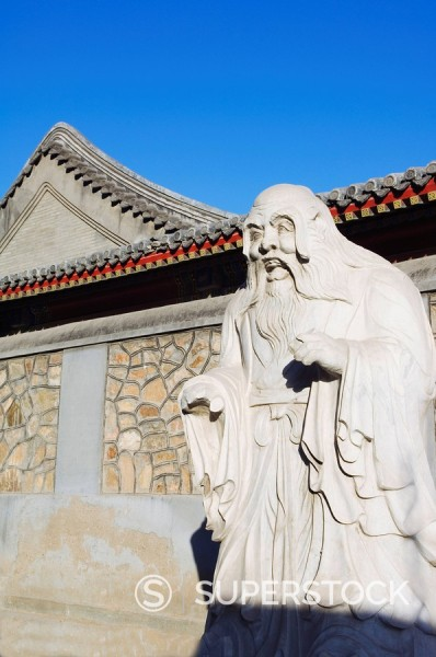 Stock Photo: 1890-46790 Confucius statue in Beijing University, Haidian, Beijing, China, Asia