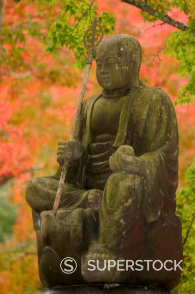 Buddhist statue, Buttsuji temple, Mihara, Hiroshima prefecture, Honshu, Japan, Asia : Stock Photo