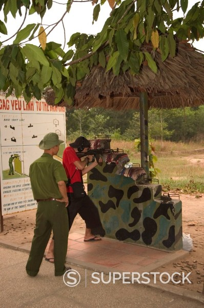 Stock Photo: 1890-47642 Firing range, Cu Chi Tunnels, southern Vietnam, Southeast Asia, Asia