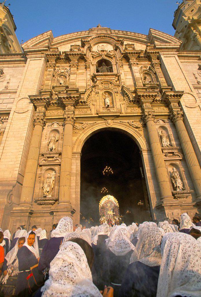 Stock Photo: 1890-48282 Easter Sunday, Lima, Peru, South America