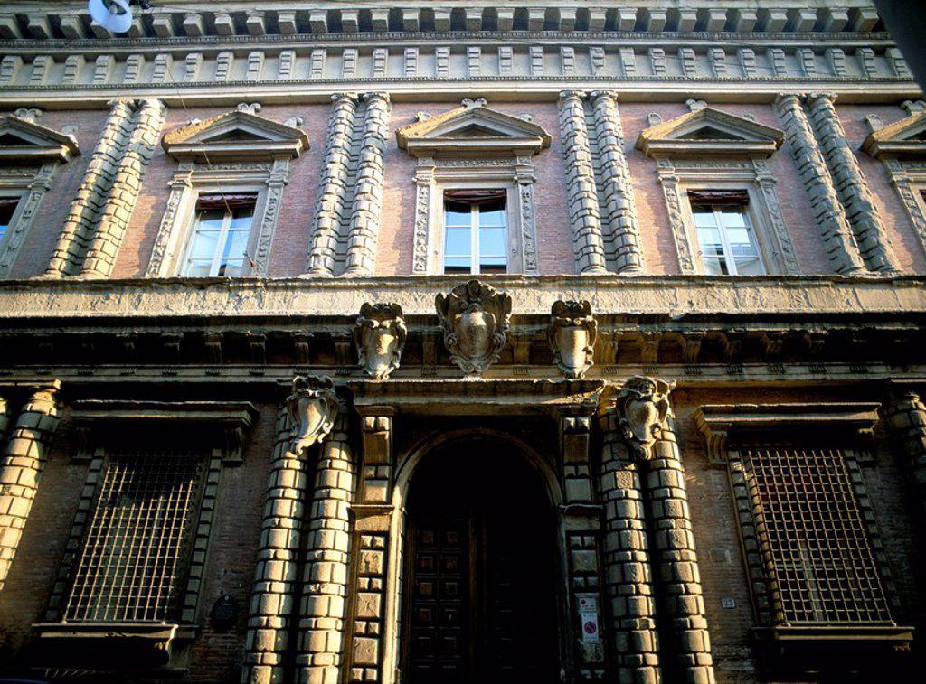 Palazzo Bevilacqua, Bologna, Emilia_Romagna, Italy, Europe : Stock Photo