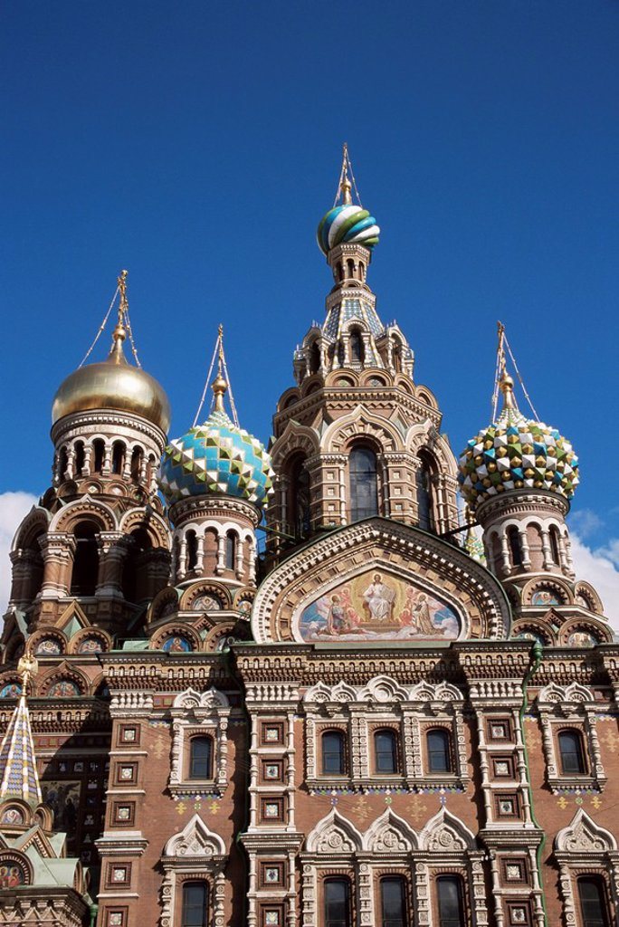 Stock Photo: 1890-4880 Church of Our Saviour on Spilled Blood, UNESCO World Heritage Site, St. Petersburg, Russia, Europe