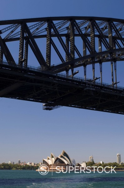 Stock Photo: 1890-49098 Opera House and Harbour Bridge, Sydney, New South Wales, Australia, Pacific