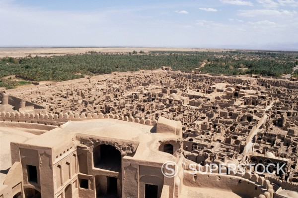 Stock Photo: 1890-50365 Abandoned town from Citadel, Bam, Iran, Middle East