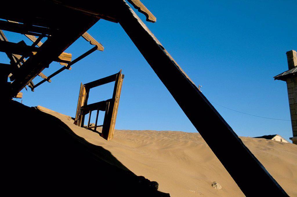 Stock Photo: 1890-50399 Diamond mining ghost town, Kolmanskop, Namib Desert, Luderitz, Namibia, Africa