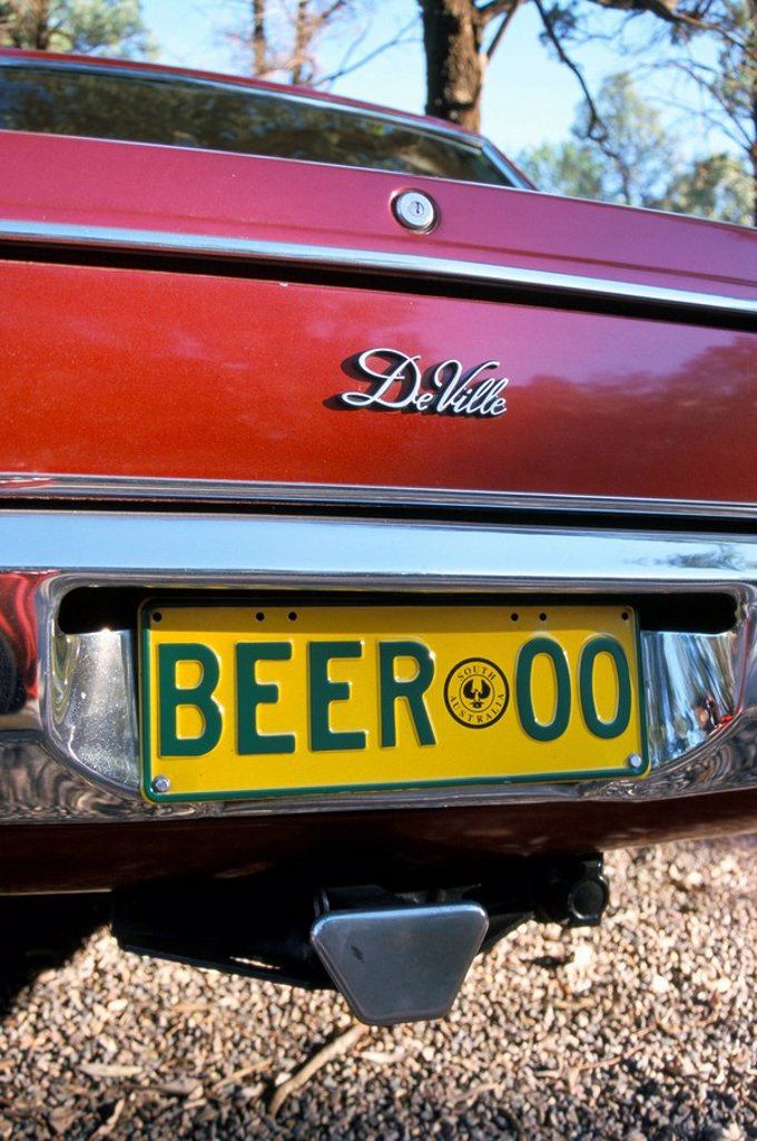 Car registration plate BEER, South Australia, Australia, Pacific : Stock Photo