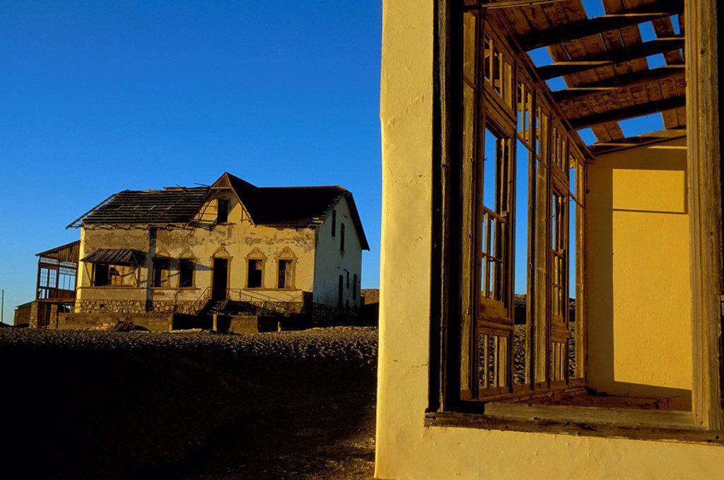 Stock Photo: 1890-50530 Diamond mining ghost town, Kolmanskop, Namib Desert, Luderitz, Namibia, Africa