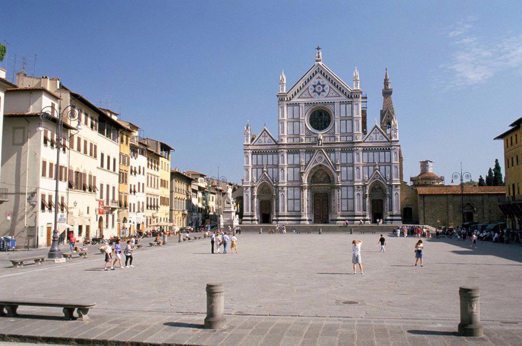 Stock Photo: 1890-50866 Chiesa di Santa Croce, Florence, Tuscany, Italy, Europe