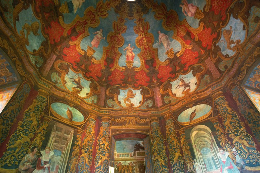 Illusionist frescoes by Donato Mascagni, Schloss Hellbrunn, near Salzburg, Austria, Europe : Stock Photo