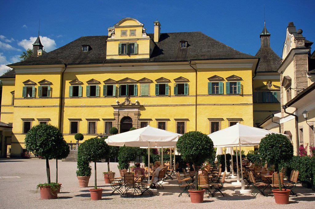 Schloss Hellbrunn, built between 1613 and 1619, near Salzburg, Austria, Europe : Stock Photo