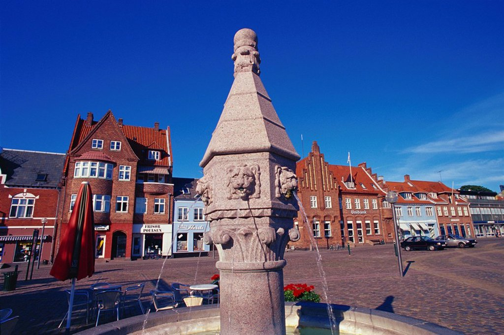 Torvet, market square, Koge, Zealand, Denmark, Scandinavia, Europe : Stock Photo