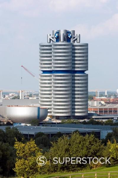 Stock Photo: 1890-52520 BMW building, Munich, Bavaria, Germany, Europe