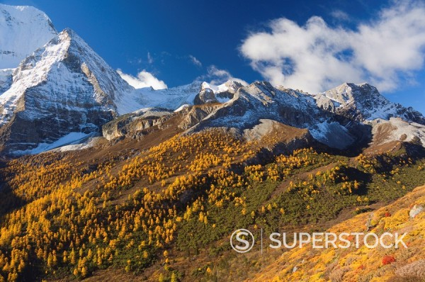 Stock Photo: 1890-53393 Xiannairi mountain, Yading Nature Reserve, Sichuan Province, China, Asia