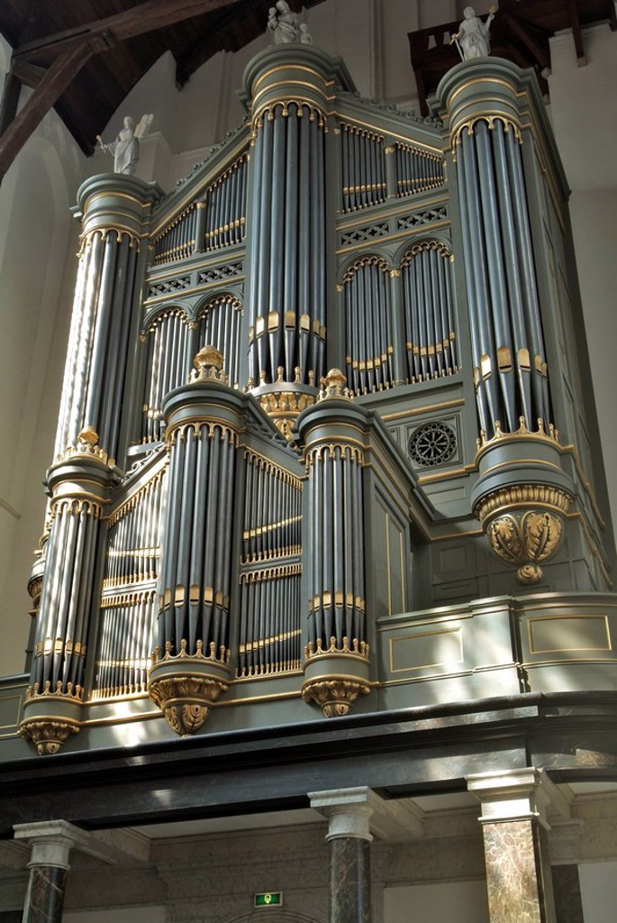 Stock Photo: 1890-54086 Organ, Oude Kirk Old Church, Delft, Holland The Netherlands, Europe