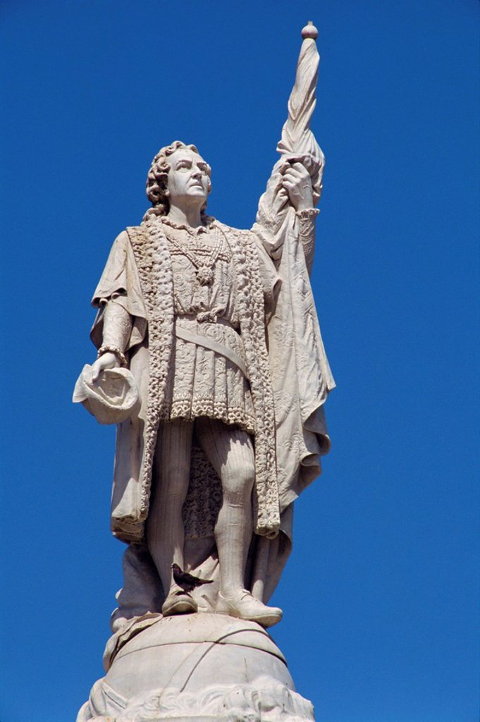 Stock Photo: 1890-5464 Statue of Christopher Columbus in San Juan, Puerto Rico, West Indies, Caribbean, Central America