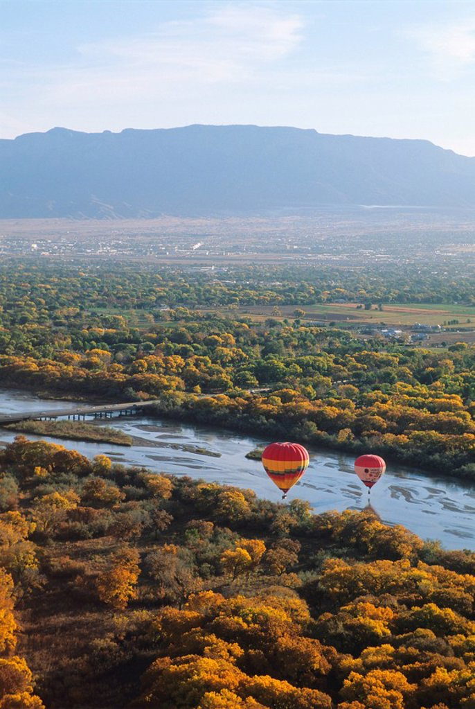 Hot air balloons, Albuquerque, New Mexico, United States of America, North America : Stock Photo