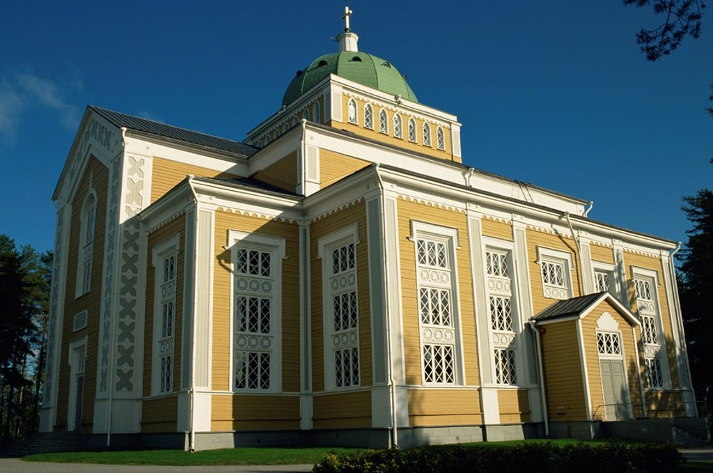 Stock Photo: 1890-5503 The world´s largest wooden church, dating from 1848, Kerimaki, Finland, Scandinavia, Europe