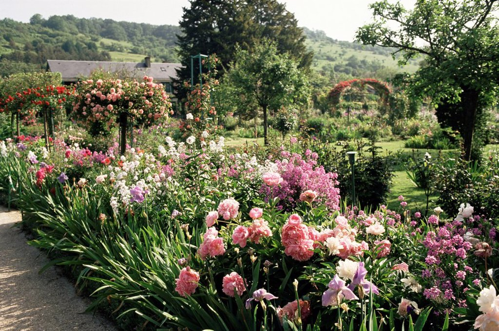Stock Photo: 1890-5538 Garden, Monet´s house, Giverny, Haute Normandie Normandy, France, Europe