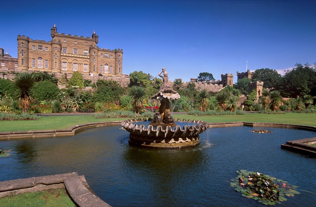 Stock Photo: 1890-55464 Culzean Castle dating from the 18th century, designed by Robert Adam, from the gardens, Ayrshire, Scotland, United Kingdom, Europe