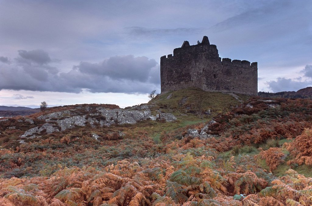Stock Photo: 1890-55527 Castle Tioram, dating from the 13th century, Ardnamurchan peninsula, near Acharacle, Scotland, United Kingdom, Europe