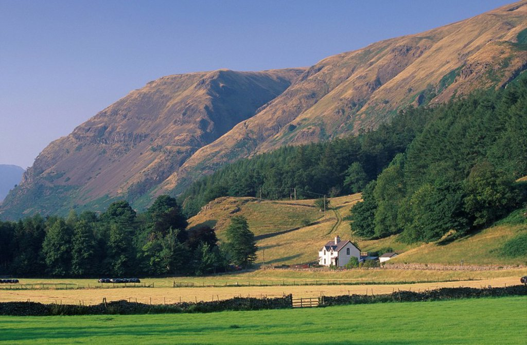 St. John Beck´s valley near Keswick, Lake District National Park, Cumbria, England, United Kingdom, Europe : Stock Photo