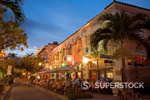Stock Photo: 1890-56808 Espanola Way, Miami Beach, Florida, United States of America, North America