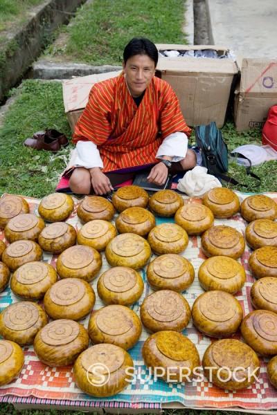 Stock Photo: 1890-56916 Market during Buddhist festival Tsechu, Thimphu, Bhutan, Asia