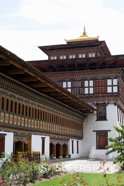 Trashi Chhoe Dzong, Thimphu, Bhutan, Asia : Stock Photo