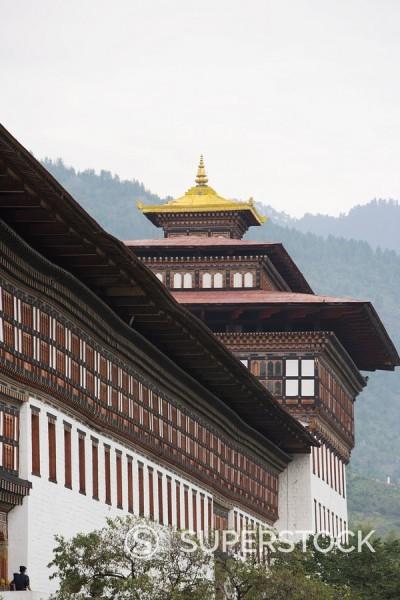Stock Photo: 1890-57088 Trashi Chhoe Dzong, Thimphu, Bhutan, Asia