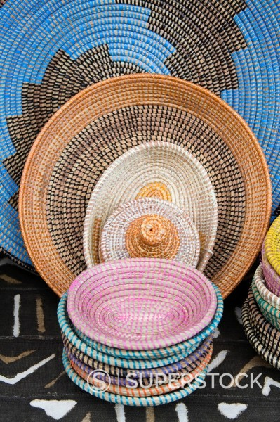 Local crafts, Willemstad, Curacao, Netherlands Antilles, West Indies, Caribbean, Central America : Stock Photo