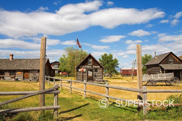 Stock Photo: 1890-58398 Four Winds Trading Post, St. Ignatius, Missoula Region, Montana, United States of America, North America