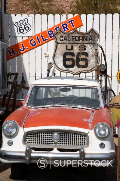 Memorabilia, Route 66 Motel, Barstow, California, United States of America, North America : Stock Photo