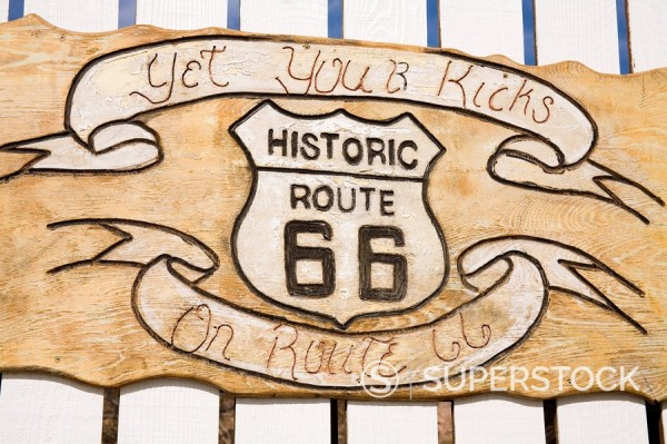 Stock Photo: 1890-58532 Memorabilia, Route 66 Motel, Barstow, California, United States of America, North America
