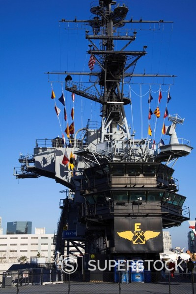 Stock Photo: 1890-58636 Midway Aircraft Carrier Museum, San Diego, California, United States of America, North America