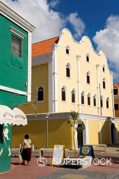 Stock Photo: 1890-58671 Jewish Museum, Punda District, Willemstad, Curacao, Netherlands Antilles, West Indies, Caribbean, Central America