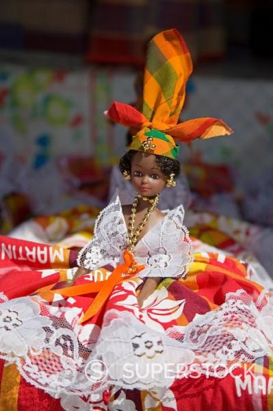Dolls, Craft Market in La Savane Park, Fort_de_France, Martinique, French Antilles, West Indies, Caribbean, Central America : Stock Photo