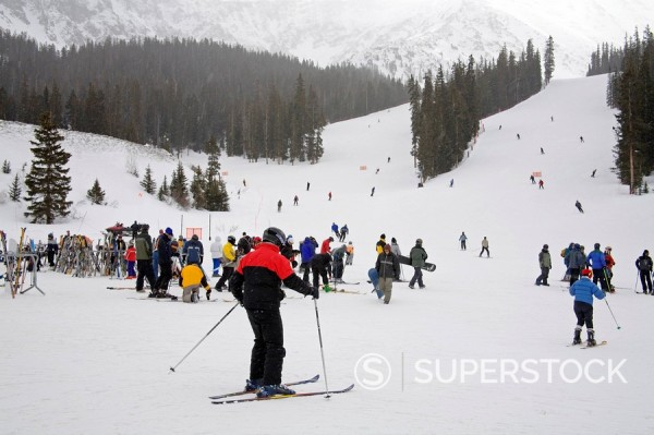 Arapahoe Basin Ski Resort, Rocky Mountains, Colorado, United States of America, North America : Stock Photo