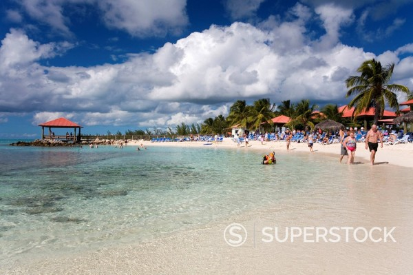 Stock Photo: 1890-59216 Beach on Princess Cays, Eleuthera Island, Bahamas, West Indies, Central America