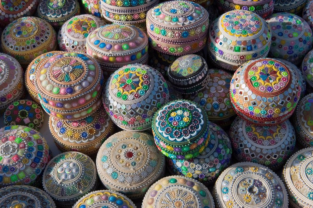 Stock Photo: 1890-60752 Tourist trinkets for sale in Goreme, Cappadocia, Anatolia, Turkey, Asia Minor, Eurasia