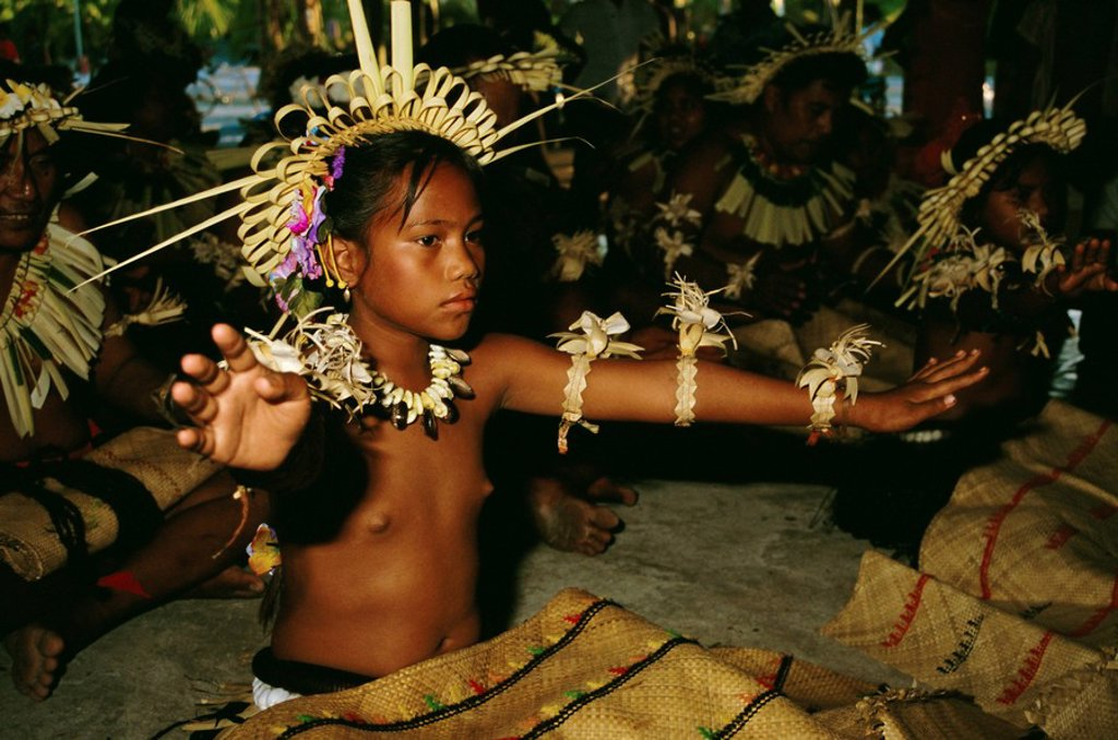 Stock Photo: 1890-62266 Dancer, Christmas Island, Kiribati, Pacific