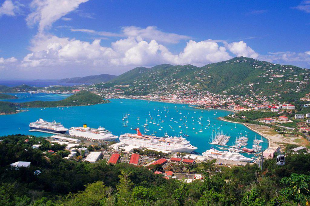 Stock Photo: 1890-62292 St. Thomas, U.S. Virgin Islands, Caribbean, West Indies