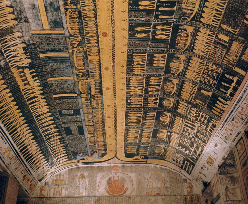 Stock Photo: 1890-62411 Ramses VI tomb, Valley of the Kings, Thebes, Egypt