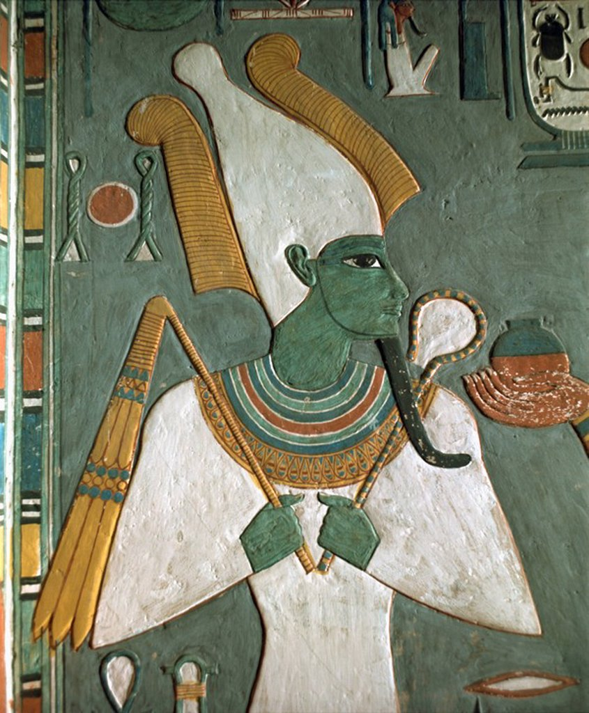 Stock Photo: 1890-6257 Detail from the Tomb of Horemheb, Valley of the Kings, Thebes, UNESCO World Heritage Site, Egypt, North Africa, Africa